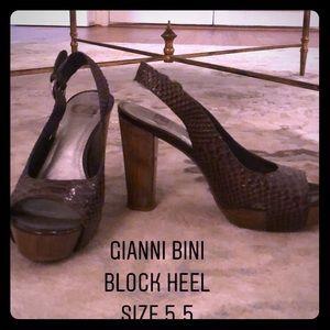 Gianni Bini Brown Block Heel